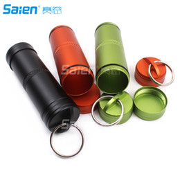 Wholesale Car Capsule - Survival Pill Match Case Box Container,Waterproof Case Container Capsule Seal Bottle Holder Survival EDC Emergency Tool
