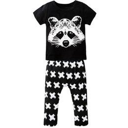 Wholesale Soft Girl Prints T Shirt - Wholesale- 2PCS Newborn Cute Cartoon Fox Printed Baby Boy Girl Clothing Set Infant Soft Cotton T Shirt Pants Short Sleeve Toddler Clothes