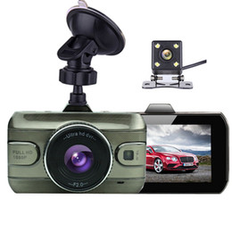 Wholesale car dvr dual gps night - Original Dual Lens Car DVR Camera Full HD 1080P 170 Degree Registrator Recorder Backup Rearview Camera Loop Recording Dash Camera