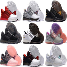 Wholesale B Grade Shoes - Latest James Harden Vol.1 Black History Month White Orange Gold Men's Basketball Shoes Harden Vol.1 Low BHM Boys Grade School Sneakers