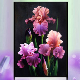 Wholesale Decoration Flower Oil Painting - YGS-550 DIY 5D Partial Diamond Embroider The Flowers Round Diamond Painting Cross Stitch Kits Diamond Mosaic Home Decoration