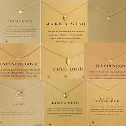 Wholesale Happiness Cards - Wholesale-2015 New MS Dogeared necklace GOODKARMA peace happiness key flower necklace wholesale and retail (necklace no card)