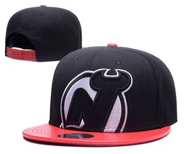 Wholesale Devil Hats - 2017 Men's Women's Basketball Snapback NewJersey Baseball Snapbacks Devils Football Hats Mens Flat Caps Adjustable Cap Sports Hat mix order