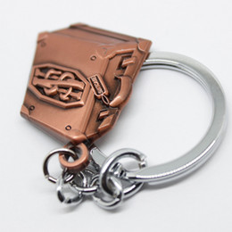 Wholesale Magic Key Lock - High quality magic chest 3D key chain pendant bronze fashion pendant gift Christmas gift can be used as necklace pendant