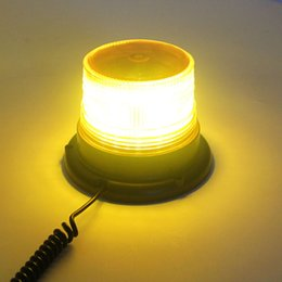 Wholesale 24v Police Lights - New High power Flashing Mode Yellow Car LED Truck Magnetic Police Warning Light Flash Beacon Strobe Emergency Lamp DC12V 24V