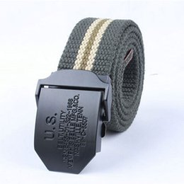 Wholesale Outdoor Equipment Brands - New Arrival Design US Logo Canvas Belt Man Military Equipment Jeans Strap Outdoor Wild Joker Leisure Belt Tactical Brand fashion waistband