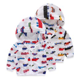 Wholesale Boys Hooded Denim Jacket - Foreign trade children's clothing 2017 summer new car full print boy light hooded sunscreen