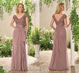 Wholesale modest evening gowns for women - Applique Elegant Formal Dresses Cheap For Women Modest Capped Sleeve Backless Sexy Deep V Neck Floor Length High Quality Evening Gown