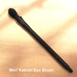 Wholesale Mini Shadow Brush - Mini Kabuki Eye Brush - Black wisteria handle Eye Contour and sculpting Brush -Goat Hair- Beauty Cosmetics Makeup Brushes Blender