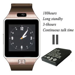 Wholesale Newest Watch Mobile Phone - Newest DZ09 Bluetooth SmartWatch GT08 U8 A1 Wrisbrand Android Smart SIM Intelligent mobile phone watch can record the sleep state