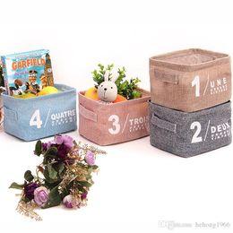 Wholesale Tool Box Make Up Storage - Storage Boxes Canvas Material Desktop Arrangement Basket Portable Multi Function Make Up Bag Home Tool Solid Color 3 6cs J R