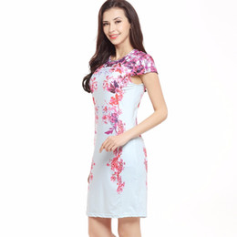 Wholesale Top Short Tight Dresses - Sexy Slim Short Sleeve Print Tight Top Bunny Dress
