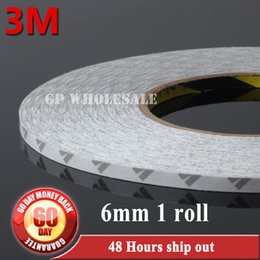 Wholesale Led Ipad Cases - Wholesale- 2016 6mm(W)*50 Meters Hi-Temp 3M 9080 Double Sided Adhesive Tape For LED Strip LCD Case iPad PC Phone DVD Repair Free Shipping