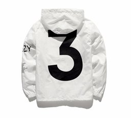 Wholesale KANYE Jacket Men KANYE Hip Hop Windbreaker TOUR Jackets Men Women Streetwear Fashion Outerwear uniform coat black White YEEZUS Y3 Jacket