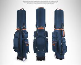 Wholesale Golf Code - New PGM golf caddie bag with wheel golf staff bag with code lock golf cart bag
