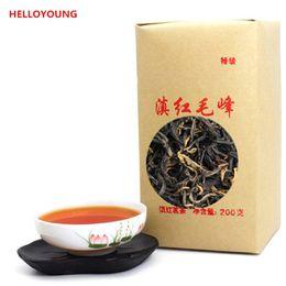 Wholesale large c - C-HC041 Dian hong maofeng tea 200g large congou black tea premium red Chinese mao feng dian hong famous yunnan black tea 200g