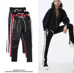 Wholesale Corduroy Trousers Women - 2017 new men and women Sweatpants Fashion jogger urban pants High street Couple casual trousers kanye FOG justin bieber pants