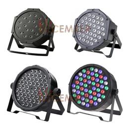 Wholesale 54 Led Par Lights - 18   36   54 LEDs DMX512 LED PAR Lights 18*3W 36*3W 54*3W RGB RGBW Color Mixing LED Stage Light