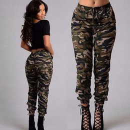Wholesale Woman Fashion Camouflage Pants - New sports pants for running women fashion casual camouflage pant trousers patchwork elastic leggings for woman
