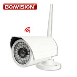 Wholesale Ip Camera Sd Card Cctv - 720P 1080P HD Wireless IP Camera WIFI Outdoor Bullet SD Card 1MP 2MP Survelliance CCTV IP Cam IR Onvif P2P CamHi View