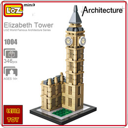 Wholesale Mini Architecture - LOZ ideas Mini Block Elizabeth Tower Big Ben London Clock England Architecture Building Blocks DIY Toy BIGBEN Model Educational Toy 1004