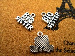 Große schwestercharme online-15pcs - Big Sister Charms Charms Antike tibetische Silber Big Sister Charms Anhänger, DIY liefert 19x16mm
