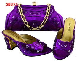 Wholesale Matching Shoe Bag Purple - Fuchsia Pumps Shoes African Women Shoes And Bag Set for Wedding High Quality Italian Shoes With Matching Bags Set