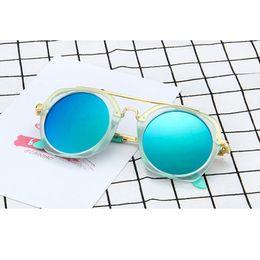 Wholesale frame baby boy - Kids Sunglasses Girls Baby Sunglasses Boys Vintage Children Glasses Round Sun Glasses For Boys Gafas De Sol Ninos