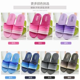 Wholesale Beach Sandal Bathroom - summer anti-slip bath couple indoor lovers living home bathroom plastic floor soft water leakage slippers male female PVC sandals
