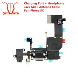 Wholesale Dock Flex Cable - Charging Port Flex Cable For iPhone 5C Charger USB Dock Connector with Headphone Audio Jack Mic Antenna Ribbon for iphone 5c