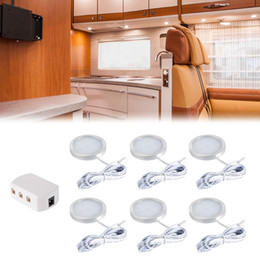 Wholesale Light Splitter - 6pcs Interior LED Roof Spot Lights with Splitter Adapter for DC 12V RV Camper Caravan Boat Kitchen Living Room LD984-SZ LD985-SZ