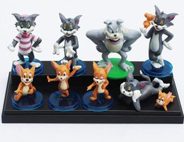 Wholesale Tom Jerry Figures Toy - Hot sale Tom and Jerry Figure toy Dolls Cute Cartoon Action Figures Toy Dolls Set Of 9 (1set=9pcs)