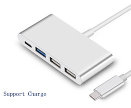 Wholesale Usb Hub Design - New Design Type C to USB 3.0 Type-C Charging HUB 2.0 USB-C Port Charger Adapter for smart phone for Apple MacBook 12 inch