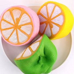 Wholesale Fruit Gifts - 11.5cm Jumbo kawaii Squishy Big Lemon Simulation Fruit Slow Rising Squishies Scented Stress Relief Toy Charms Kids Xmas Gift