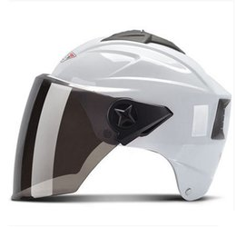 Wholesale Types Vespa Helmets - P#113 Free Shipping portable-type Vintage Vespa H-661 ABS Cycling Casco Scooter Motorcycle Bicycle Moto Helmet & UV Lens Adult Summer Helmet