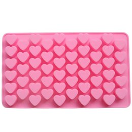Wholesale Chocolate Moulds Sale - Lovely and Cute 55 Sweet Heart Shape Decorative Cake Mould Silicone Easy Clean 3D Candy Pastry Mould Chocolate Mold for Sale