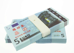 Wholesale Factory Labels - EUR5 for props and Education bank staff training paper fake money copy money children gift factory direct