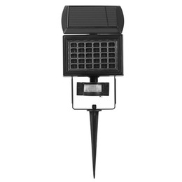 Wholesale Solar Spike - Wholesale- 30 LEDs Solar Light Outdoor Spike Lawn Lamp Wireless PIR Motion Sensor LED Solar Lamp IP65 Waterproof for Garden Yard Lighting