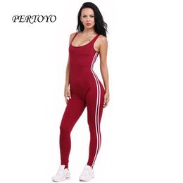 Wholesale Yellow Overalls Women - Wholesale- PERTOYO Tank Sexy Overalls Women Jumpsuit Fitness Playsuit Bandage Club Romper Backless Bodysuit Women Overalls Summer Playsuit