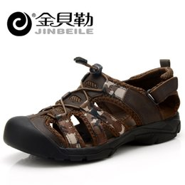 Wholesale Brand Mountain Shoes - Wholesale-2016 Brand Men Sandals Shoes Mountain Waterproof Light Weight Men Sandals Outdoor Beach Mens Sandals Slippers Summer Brown 10