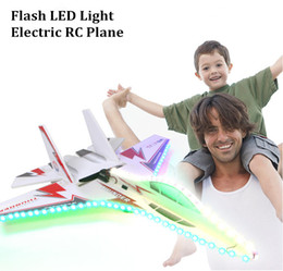 Wholesale Metal Model Fighter Plane - KT Foam Magic Board Flashing Led Rc Planes SU 27 Model Electric Remote Control Airplanes Toys Hot Sale Drop Shipping