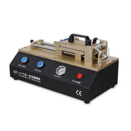 máquina de laminação oca Desconto TBK-765 novo 3 em 1 Automático OCA Filme Polarizado Máquina de Laminação Construído em Bomba de Vácuo Quebrado LCD Repair OCA Máquina frete grátis