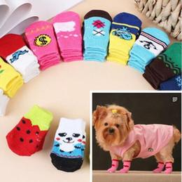 Wholesale Dog Shoes Winter Pet - low price ( mix Multicolor Size S M L XL )Dog & Cat Socks Design pet Socks 40pcs lot=10sets lot Mixed order pet Socks