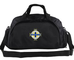 Wholesale Country Bags - Northern Ireland duffel bag North country badge tote Dark hedges backpack Football luggage Sport shoulder duffle Outdoor sling pack