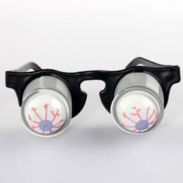 Wholesale Pop Eyes Animal Toy - CosplayPrank Joke Toy Funny Horror Pop Out Eyes Glasses Dropping Eyeball Glasses for Halloween Costume Parties Joke Gift Pop Out Eye Glasses
