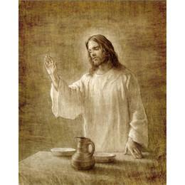 Pinturas a óleo christ on-line-Joseph Brickey Pinturas A Óleo Reprodução Em Relembrança Handmade canvas art Cristo Retrato sala de estar decoração