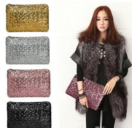 Wholesale Wholesale Beaded Handbags - 2017 New Fashion Dazzling Glitter Sparkling Bling Sequins Evening Party purse Bag Handbag Women Clutch wallet