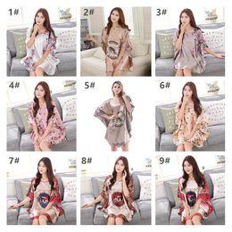 Wholesale Sexy Nightshirts - Summer Style Women Sleepwear Plus Size Multicolor Nightdress Comfortable Satin Silk Female Nightgowns Floral Sexy Nightshirts