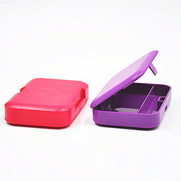 Wholesale Nice Storage - Plastic Rectangle Tobacco Box Cigarette Storage Case for Rolling Paper Smoking Pipe Holder Nice Colors Avaiable In Stock