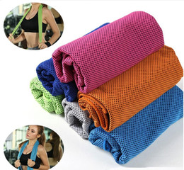 Wholesale Kids Bath Towel Set - Hot 90*35cm Double Layer Ice Cold Towel Cooling Summer Sunstroke Sports Exercise Cool Quick Dry Soft Breathable Cooling Towel for Kids Adult